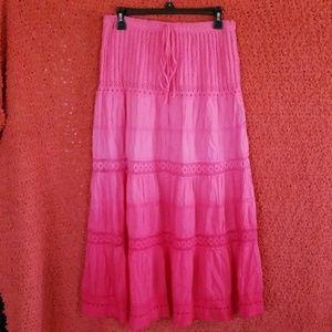Lacey, Flowy, Summer Boho Maxi Skirt